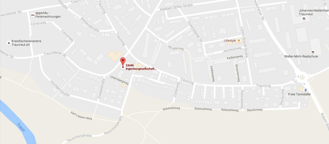 Kontakt ZAHN IG - Karte Google